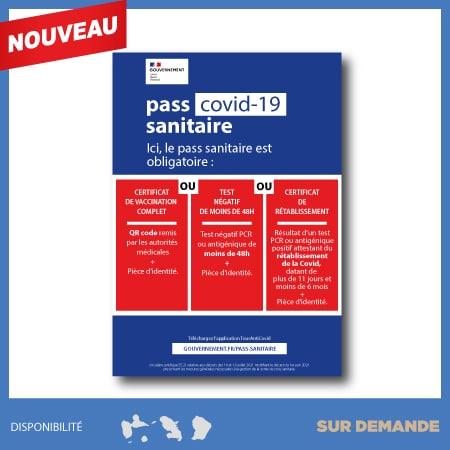 Panneau Covid-19 Pass Sanitaire